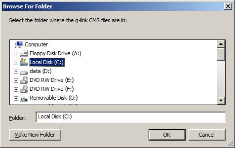 gUp - g-link CMS indbyggede FTP-uploader, trin 1...